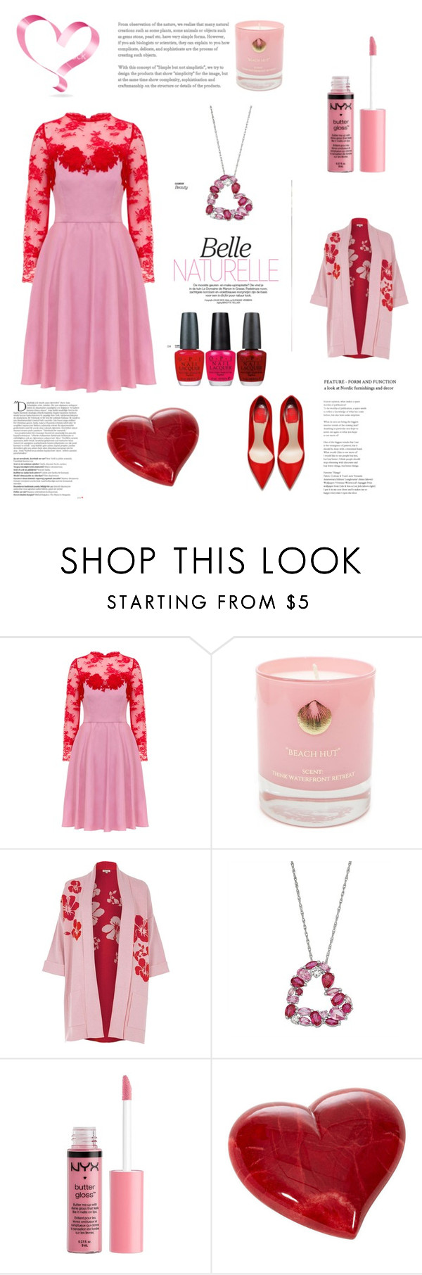 """""""Be My Valentine"""" by im-karla-with-a-k ❤ liked on Polyvore featuring Vjera Vilicnik, Hightide Devon, River Island, Charlotte Russe, OPI and Balmain"""