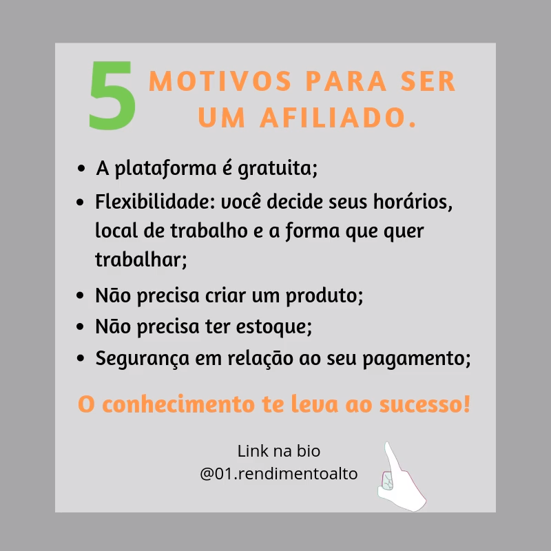 5 Motivos para ser um afiliado.