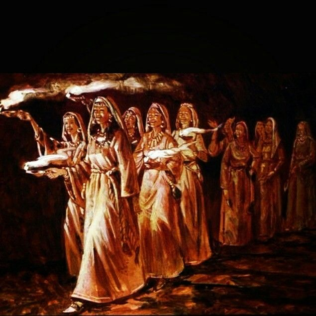 """The Parable of the Ten Virgins"""" Matthew 25:1-13 """"At that time the kingdom  of heaven will be like ten virgins who t…   Bride of christ, Matthew 25, Jesus is coming"""