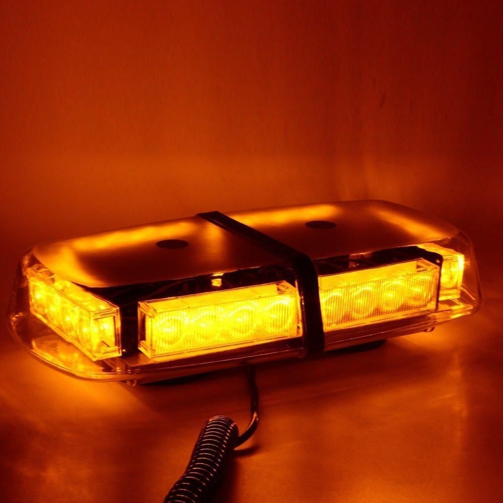 36LED Car Roof Strobe Flash Light Bar Yellow//Amber for Car Tow Truck Universal