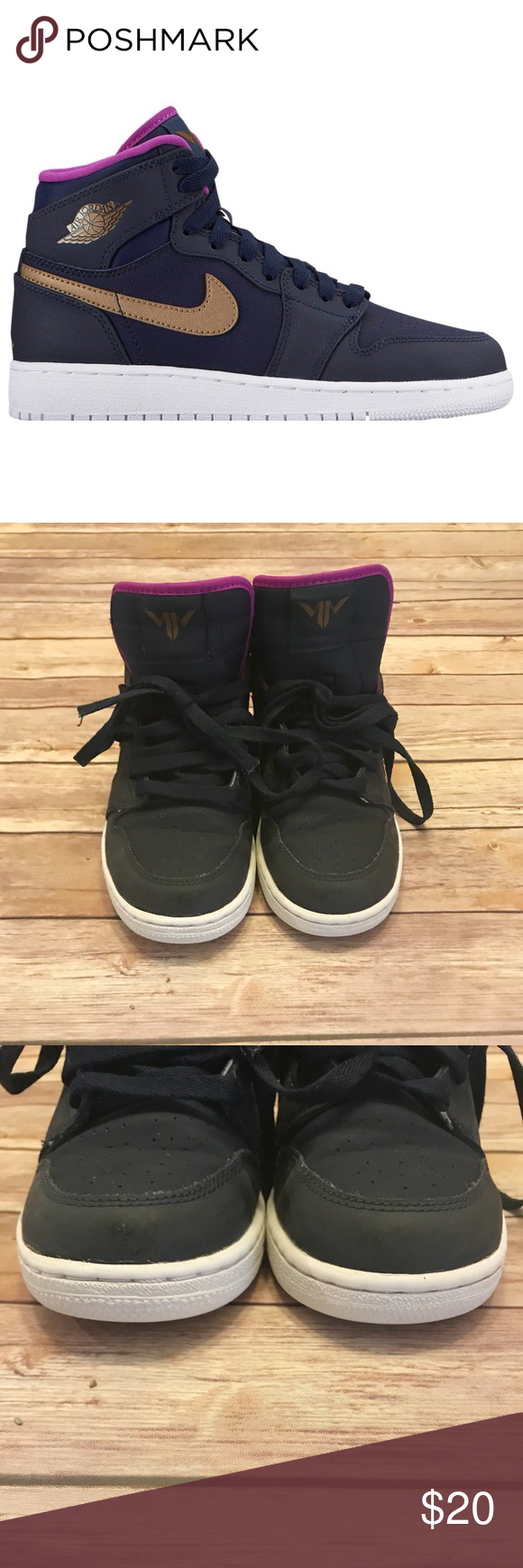 """8512b955137a71 Girls Air Jordan """"Maya Moore"""" Shoes Pre-owned Girls Maya Moore shoes. Minor  dirt on bottom of shoes. Shoe laces have frayed ends. Girls size 4 Jordan  Shoes"""