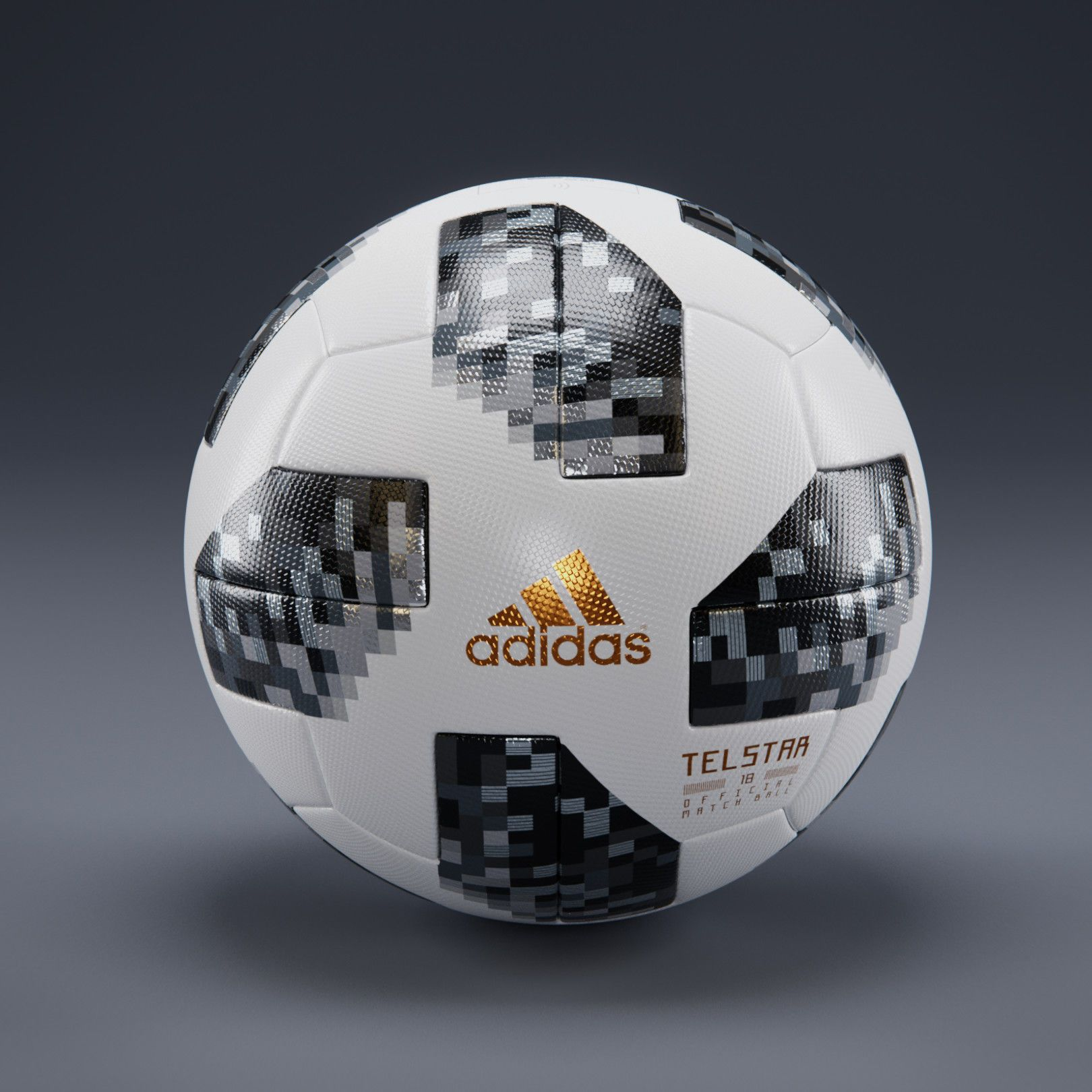tono alojamiento Vatio  Telstar 18 – Adidas – Russia WorldCup-Official Ball- PBR Texture 3D model  3D Model of the Adidas – Telstar18 soccer ball, for the … | Soccer ball,  Soccer, 3d model