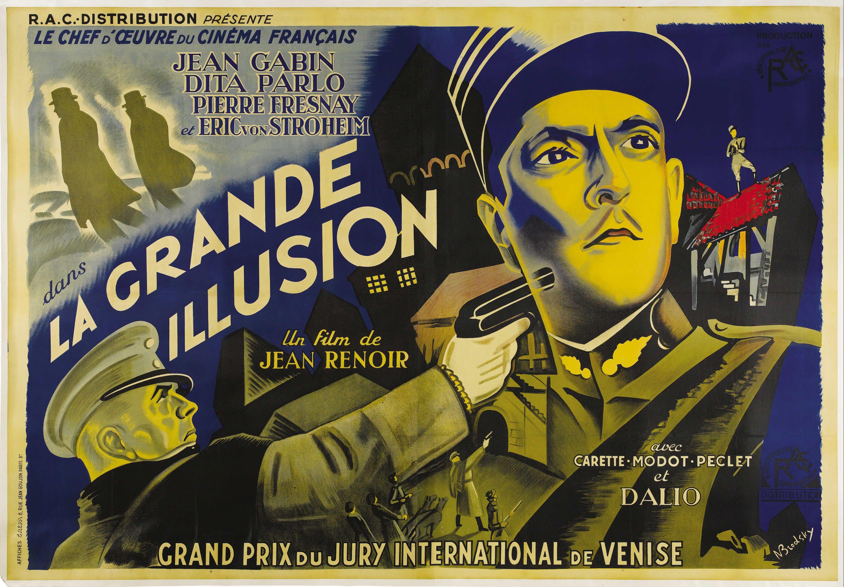 La Grande Illusion | Jean renoir, Affiche de film, Jean gabin