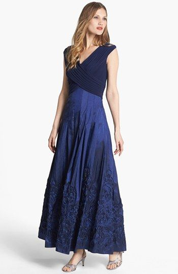45d21382afb64 Patra V-Neck Soutache Mixed Media Gown (Regular   Petite) available at   Nordstrom