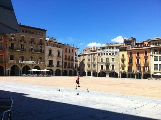 Placa Major (plaza where the market takes place) - Vic, Spain