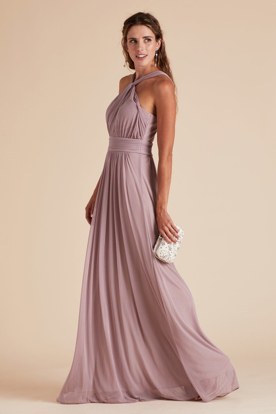 a662cd54ebb Kiko bridesmaid dress by Birdy Grey in Mauve. Grecian halter neckline.  Under  100.
