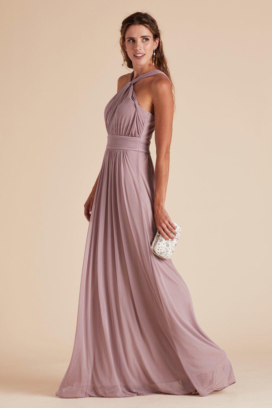 5a189ff7b2d Kiko bridesmaid dress by Birdy Grey in Mauve. Grecian halter neckline.  Under  100.