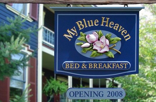 My Blue Heaven Bed and Breakfast sign / Danthonia Designs