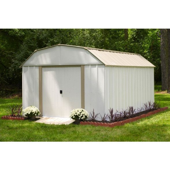 Arrow 10 X 14 Lexington Metal Storage Shed Metal Storage Sheds Outdoor Storage Sheds Shed Storage