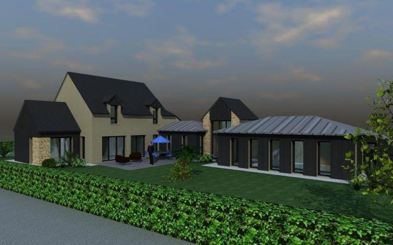 maison prestige avec jardin du0027hiver et piscine Architecture