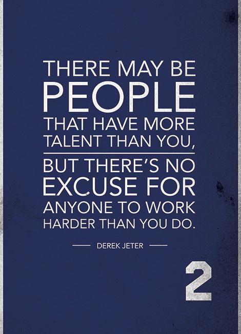 Image Result For Derek Jeter Quotes Hard Work