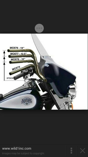 Raised Handle Bars Street Glide Harley Harley Bagger Harley Handlebars