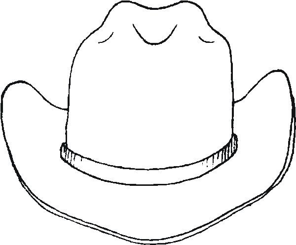 Free printable cowboy hat coloring pages coloring pages Coloring book hat