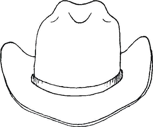 cowboy hat coloring page # 0