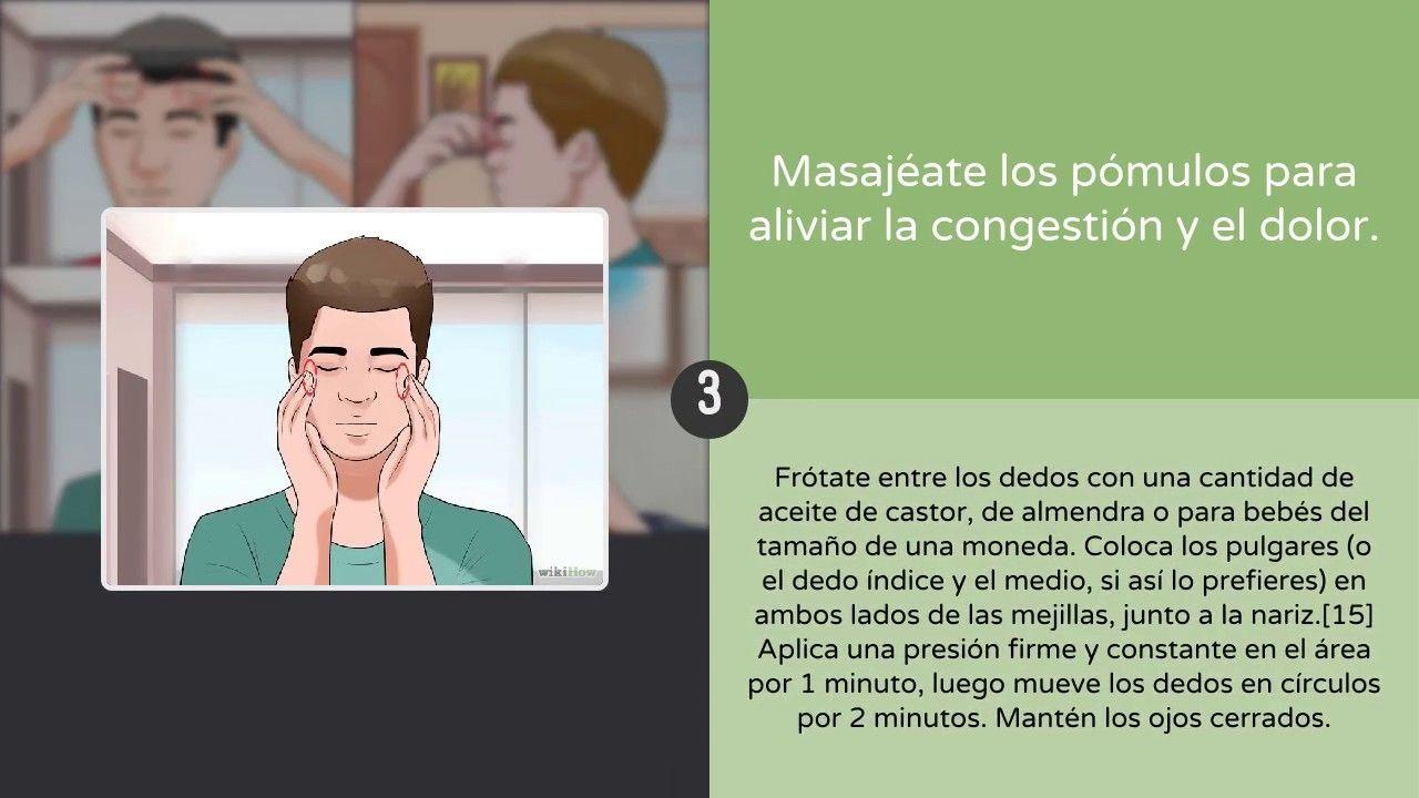 Cómo tratar la sinusitis crónica | Emplear los masajes | SALUD ...