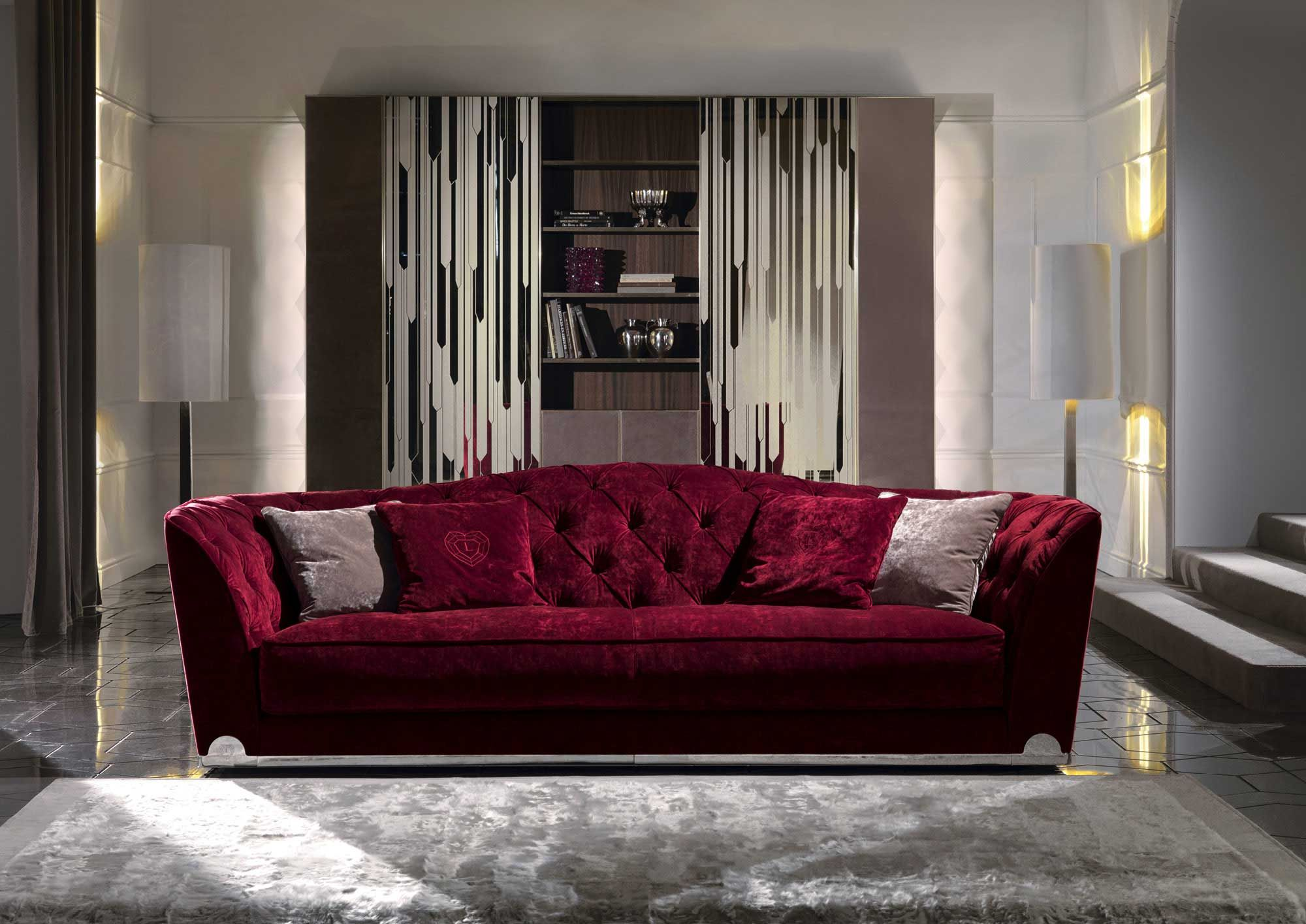 Grace by longhi round corner too sofa pinterest for Mobili design italiani