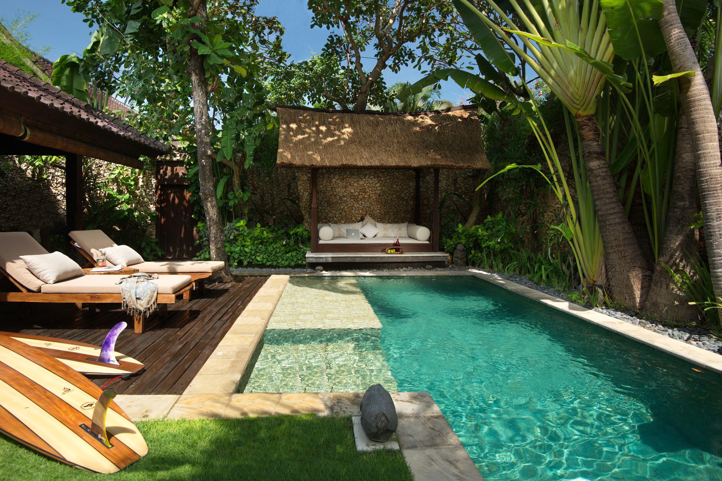 Beautiful Swimming Pool At Boutique Resort Villa Kubu In Seminyak Each Of The Beautifully Desig Villa With Private Pool Luxury Vacation Rentals Backyard Pool