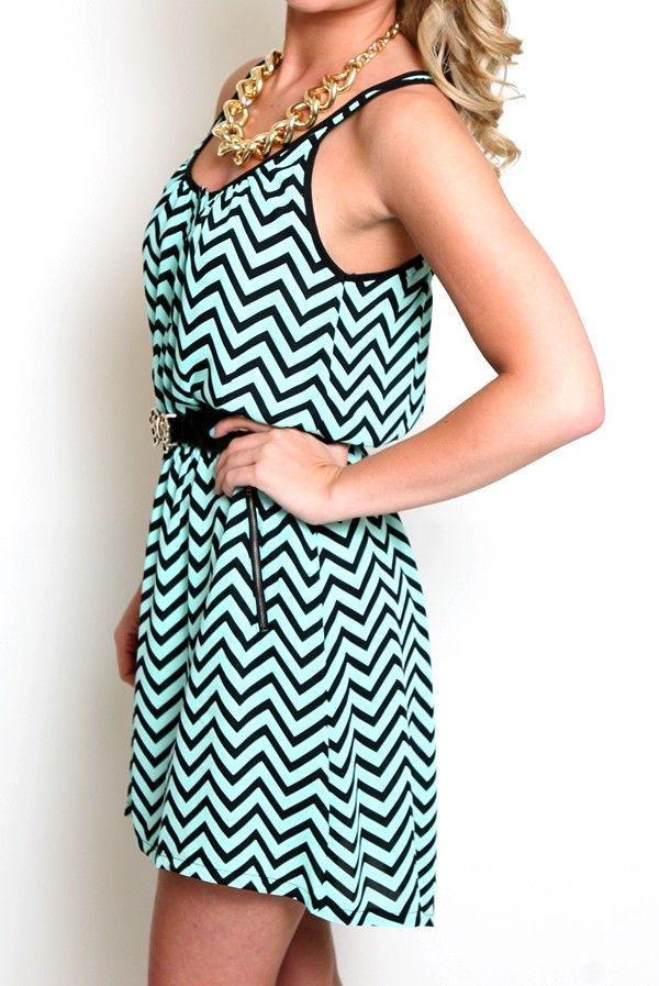 Chevron Summer Dress in Mint | Dresses | Pinterest | Too cute ...