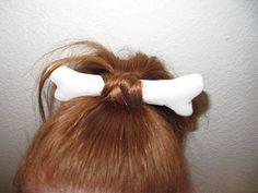 how to do pebbles flinstone hair for halloween #pebblesandbambamcostumes