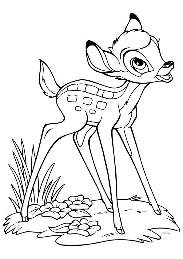 Bambi-värityskuva. Lasten Oman Kirjakerhon tulostettavat ...