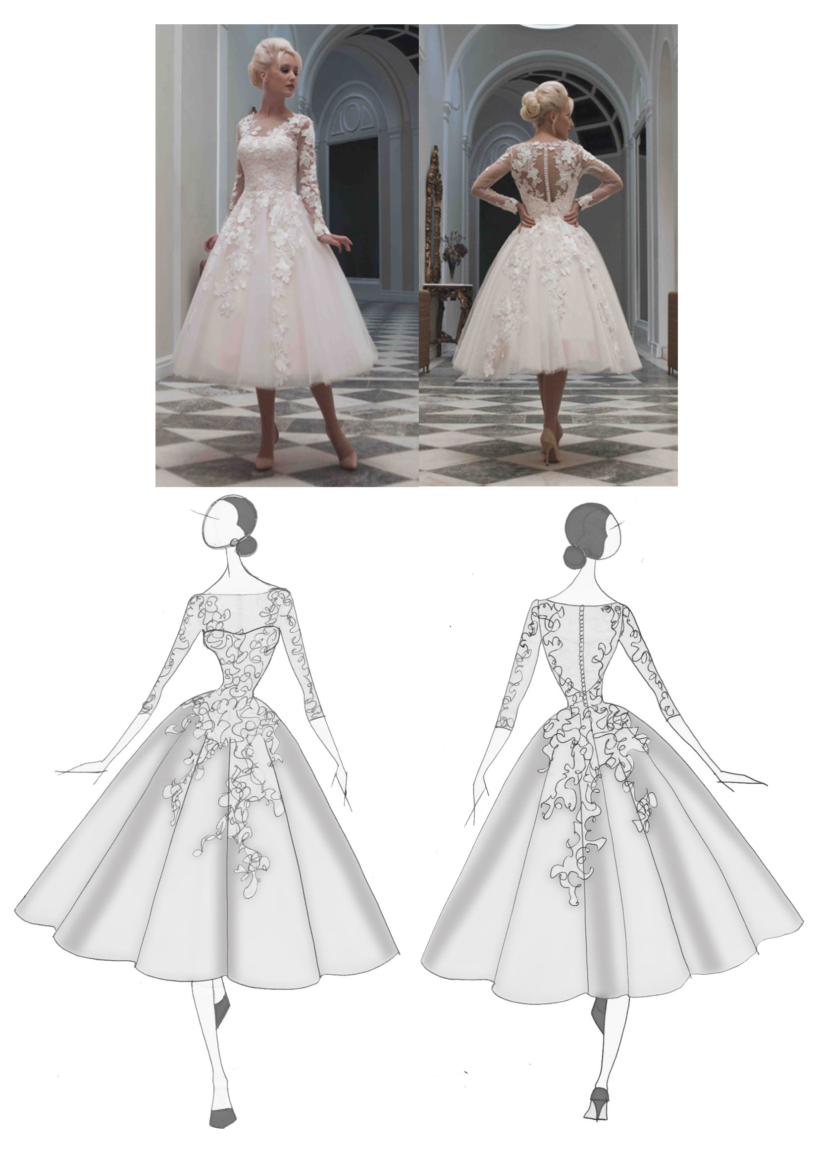 Pin By Maisie Darling Bridal Boutique On Wedding Dress House Of Mooshki Vintage In 2020 Ballerina Wedding Dress Wedding Dress Sketches Blush Wedding Dress Lace [ 2323 x 1654 Pixel ]