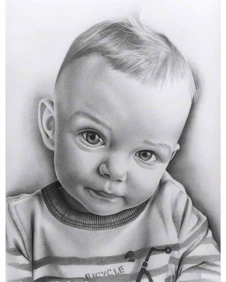 Картинки дети карандашом