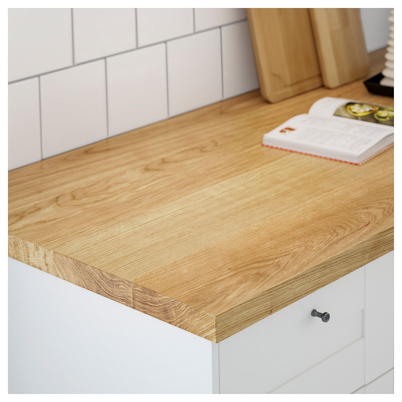 Mollekulla Countertop Oak Veneer 98x1 1 2 In 2020 Countertops Ikea Wood Countertops Solid Countertops