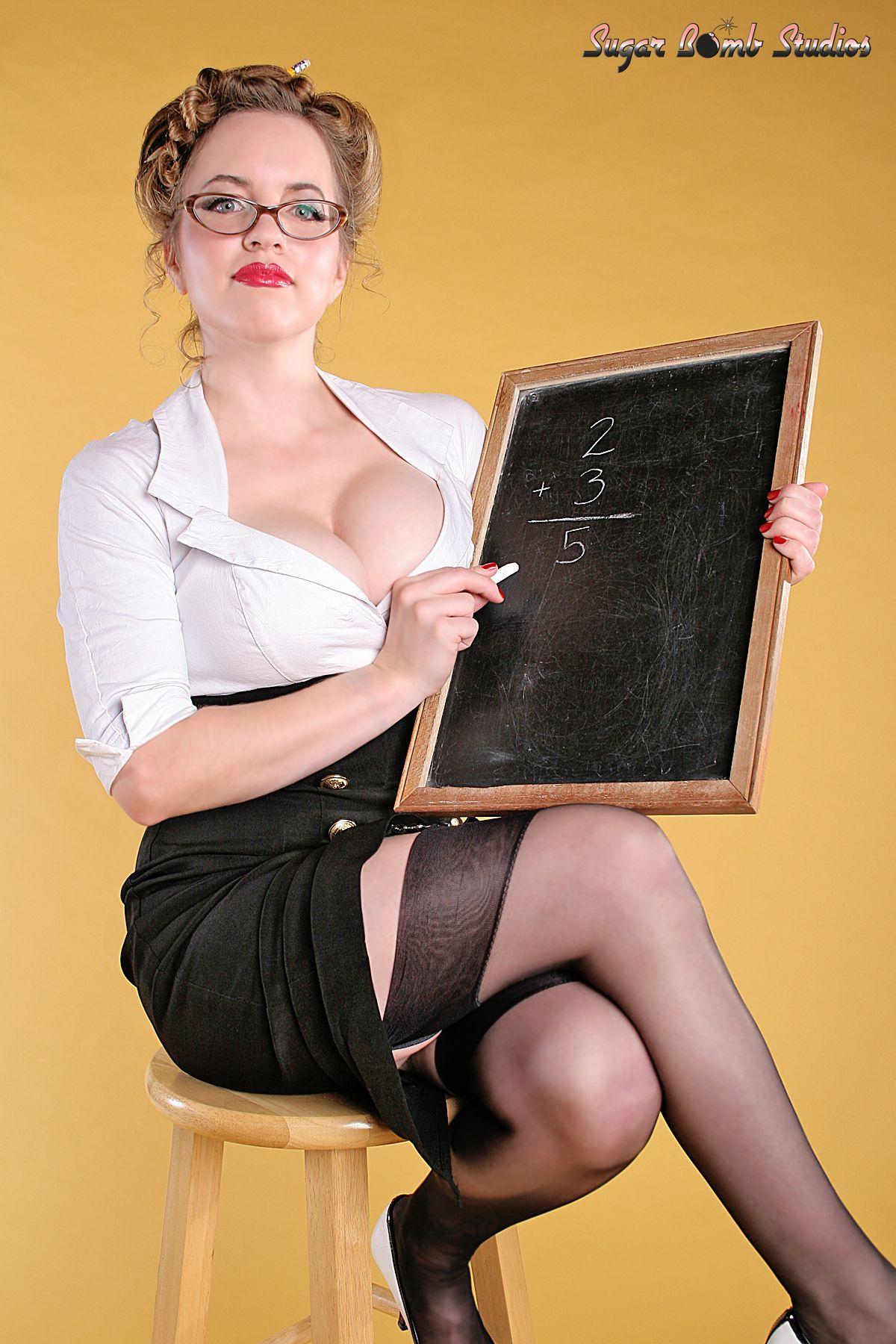 teacher pin up girl