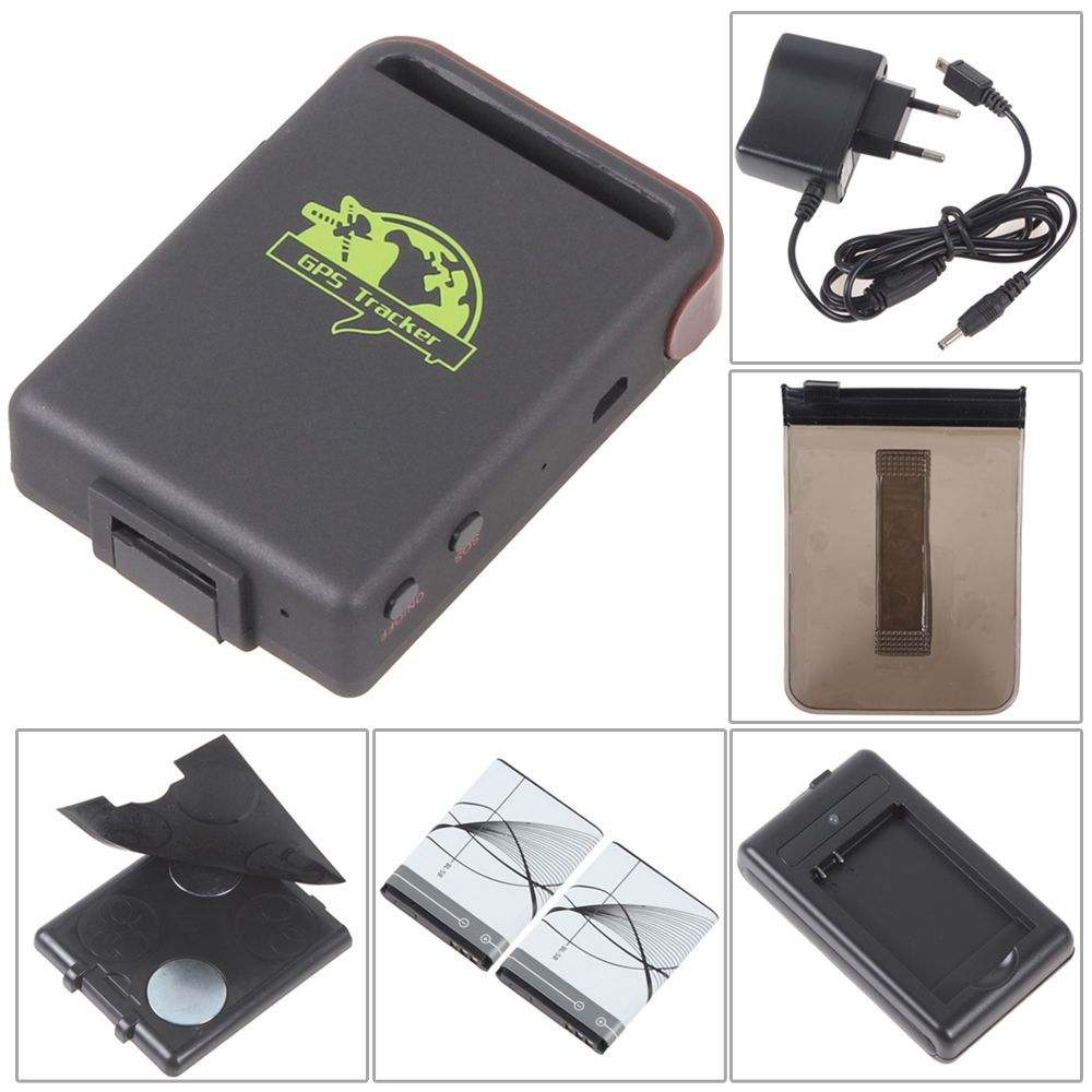 free shipping a quality 2 battery tk102 car gps tracker gsm gprs tracking device for vehicle