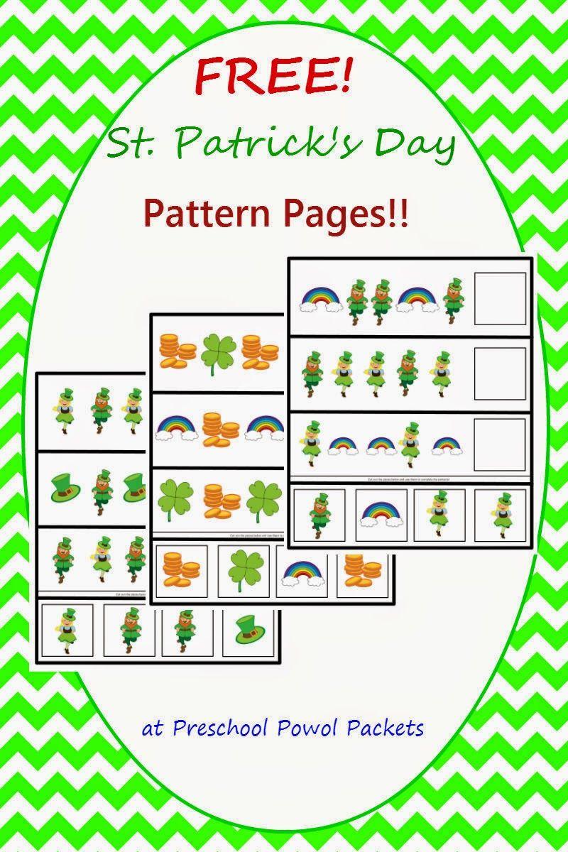 Free St Patrick S Day Preschool Patterns Preschool Powol Packets St Patrick Day Activities Preschool Patterns St Patricks Theme [ 1200 x 800 Pixel ]