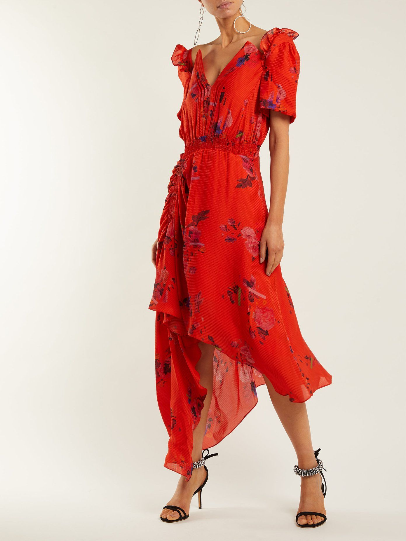 Dana floral-print silk-jacquard dress Preen Or6zGToZDM