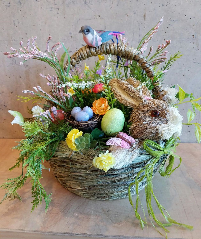 Easter basket centerpiece bunny basket spring basket easter easter basket centerpiece bunny basket spring basket easter centerpiece spring centerpiece negle Images