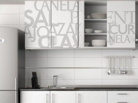 Living deco and style: VINILOS EN LA COCINA | cositas | Pinterest ...