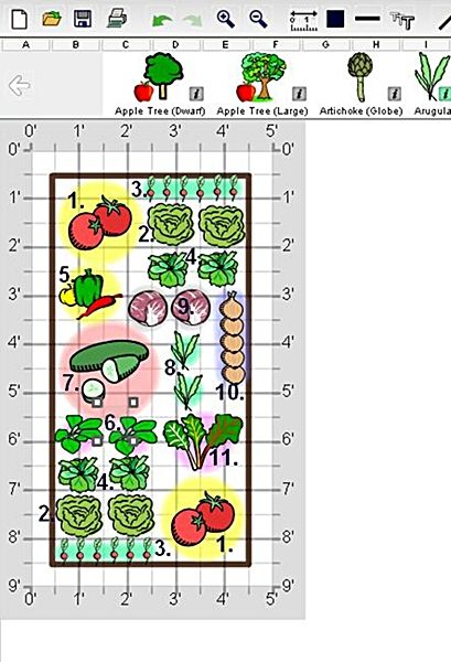 Salad Garden Design for 4 x 8 Raised Bed edible gardening