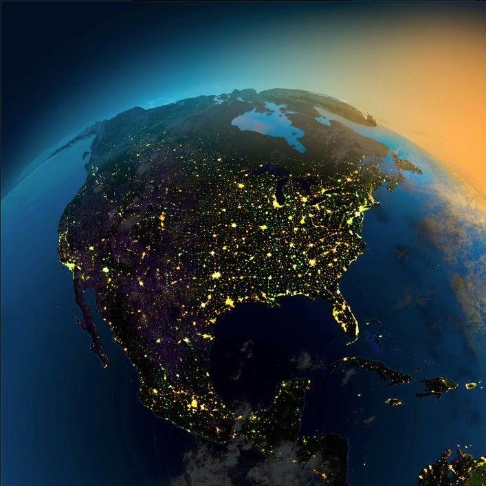 Resultado de imagen de north america from space