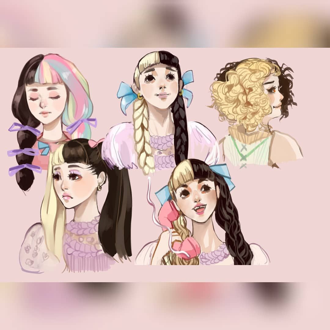 A Bunch Of Quick Hairstyle Portraits Of Melanie Martinez K 12 Film Please Check Out The Spee Melanie Martinez Melanie Martinez Anime Melanie Martinez Drawings