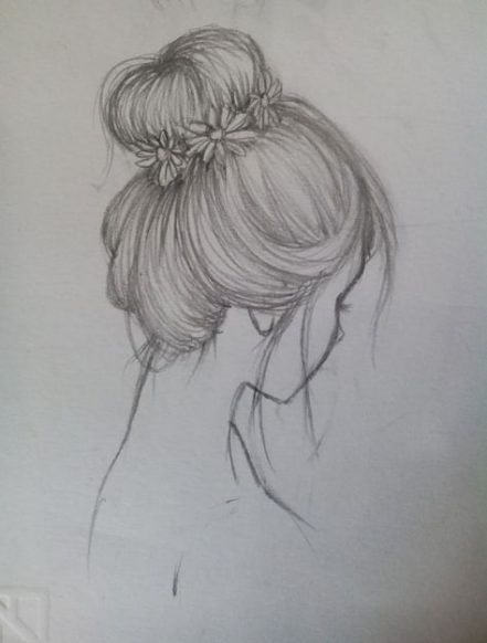Drawing Hair Styles Bun 31 Ideas In 2020 Cool Art Drawings Drawing Artwork Sketchbook Drawings