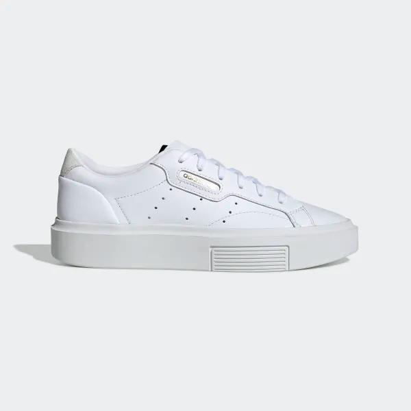 adidas Sleek Super Shoes White Womens in 2020 | Minimalist