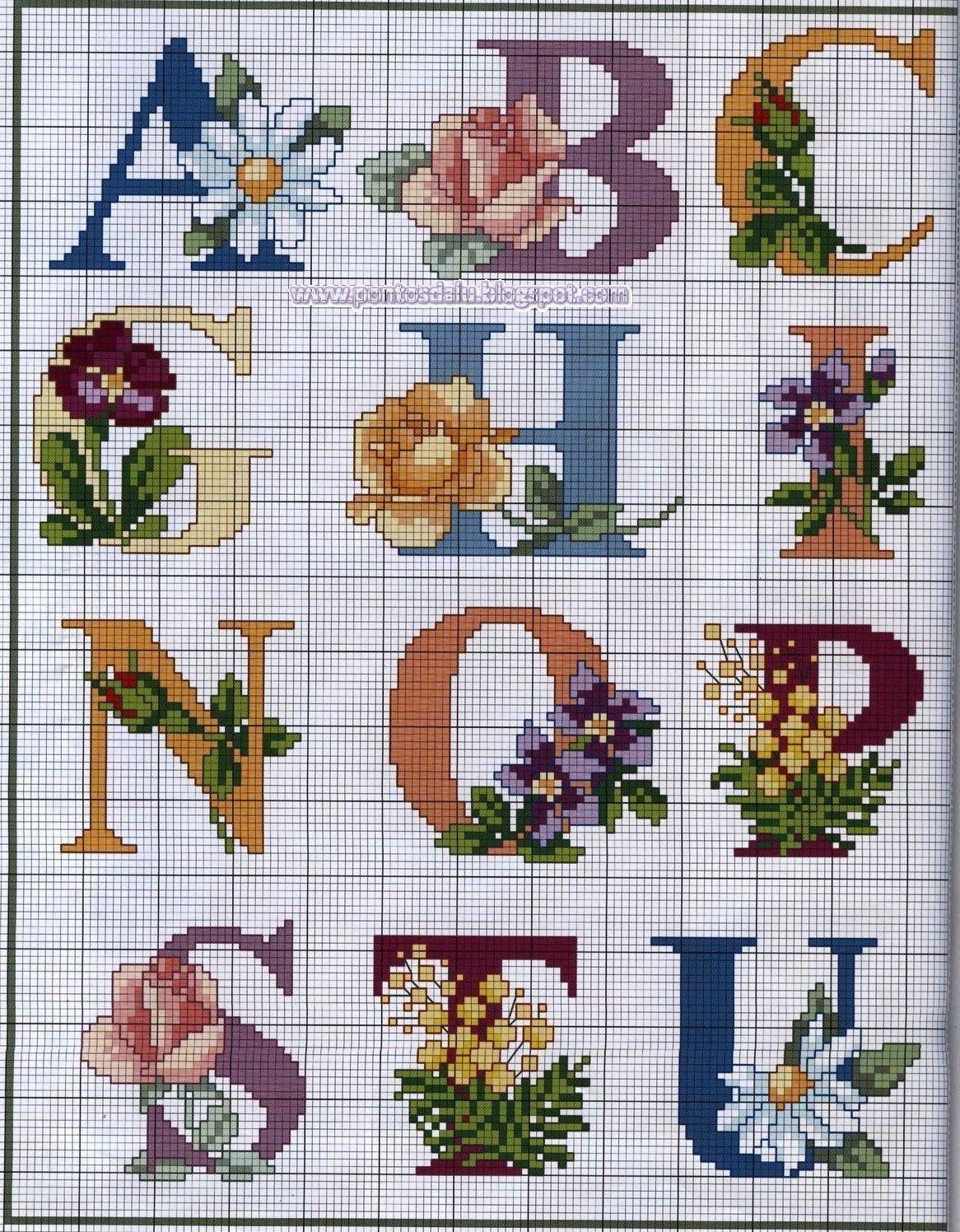Pin di trijntje su alphabet pinterest punto croce for Lettere a punto a croce
