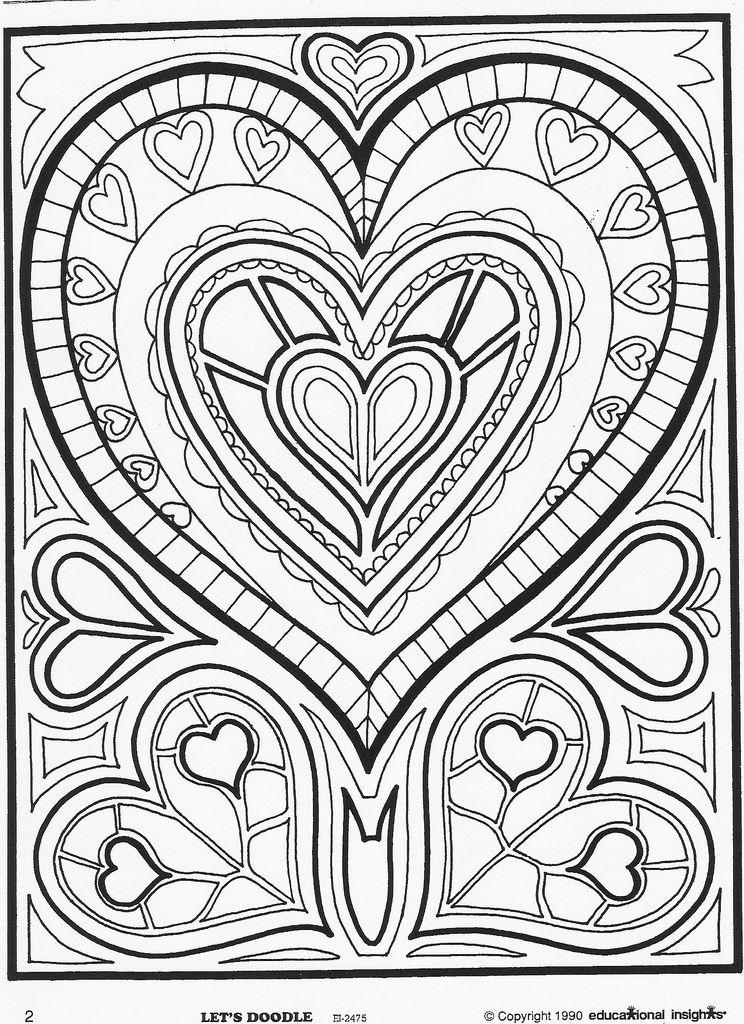 heart2 COLORING BOOK LOVE