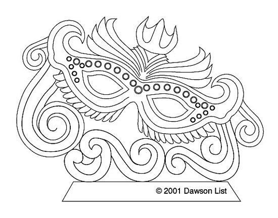 Mardi Gras Mask In Color With A Crown The Secrets Blog From Ice Carving Secrets Ice Sculpting Tools Techniques Mardi Gras Coloring Pages Mardi Gras Mask