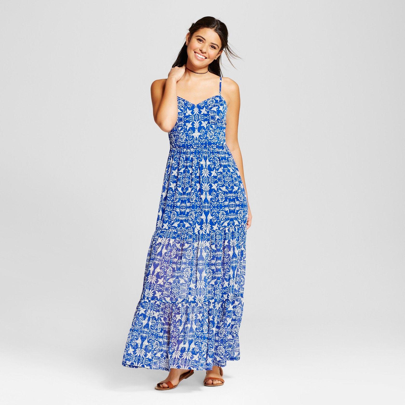 3db9da37d Women's Floral Maxi Dress - Xhilaration™ (Juniors') Royal Blue ...