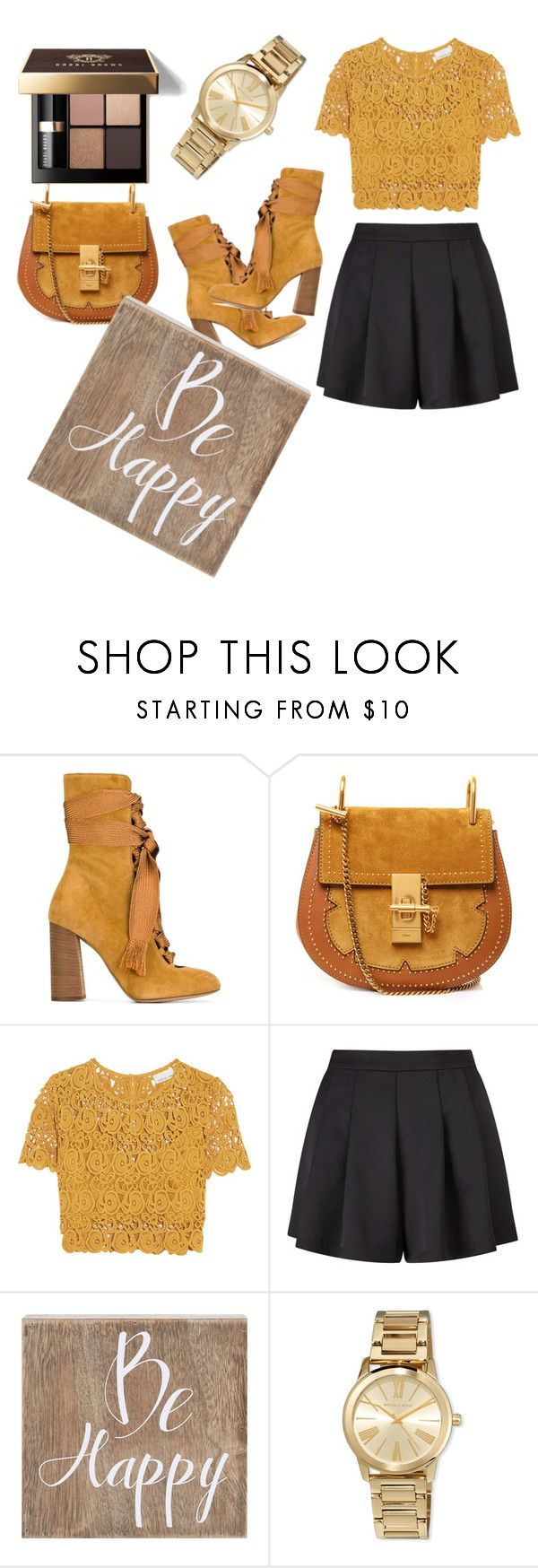 """""""Untitled #58"""" by amela83 ❤ liked on Polyvore featuring Chloé, Miguelina, Miss Selfridge, Belle Maison, MICHAEL Michael Kors and Bobbi Brown Cosmetics"""
