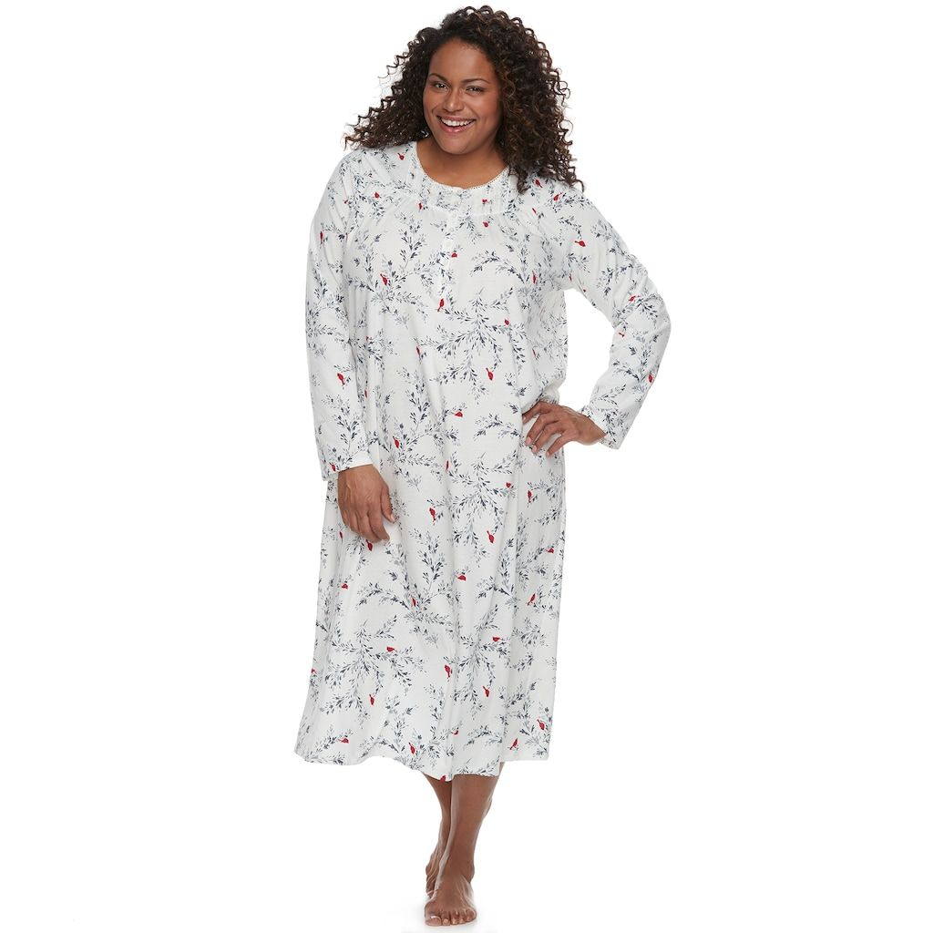 8e117f184ec Plus Size Croft   Barrow® Pajamas  Pintuck Long Sleeve Nightgown ...