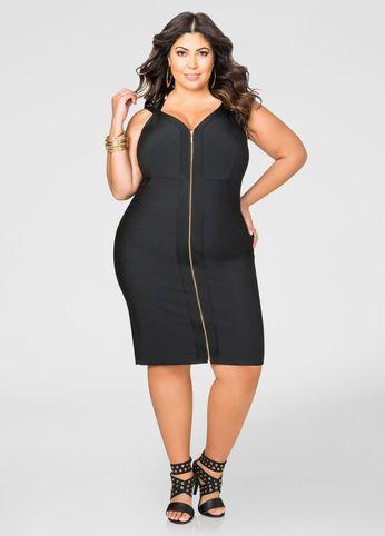 Bandage Dress Plus Size Women