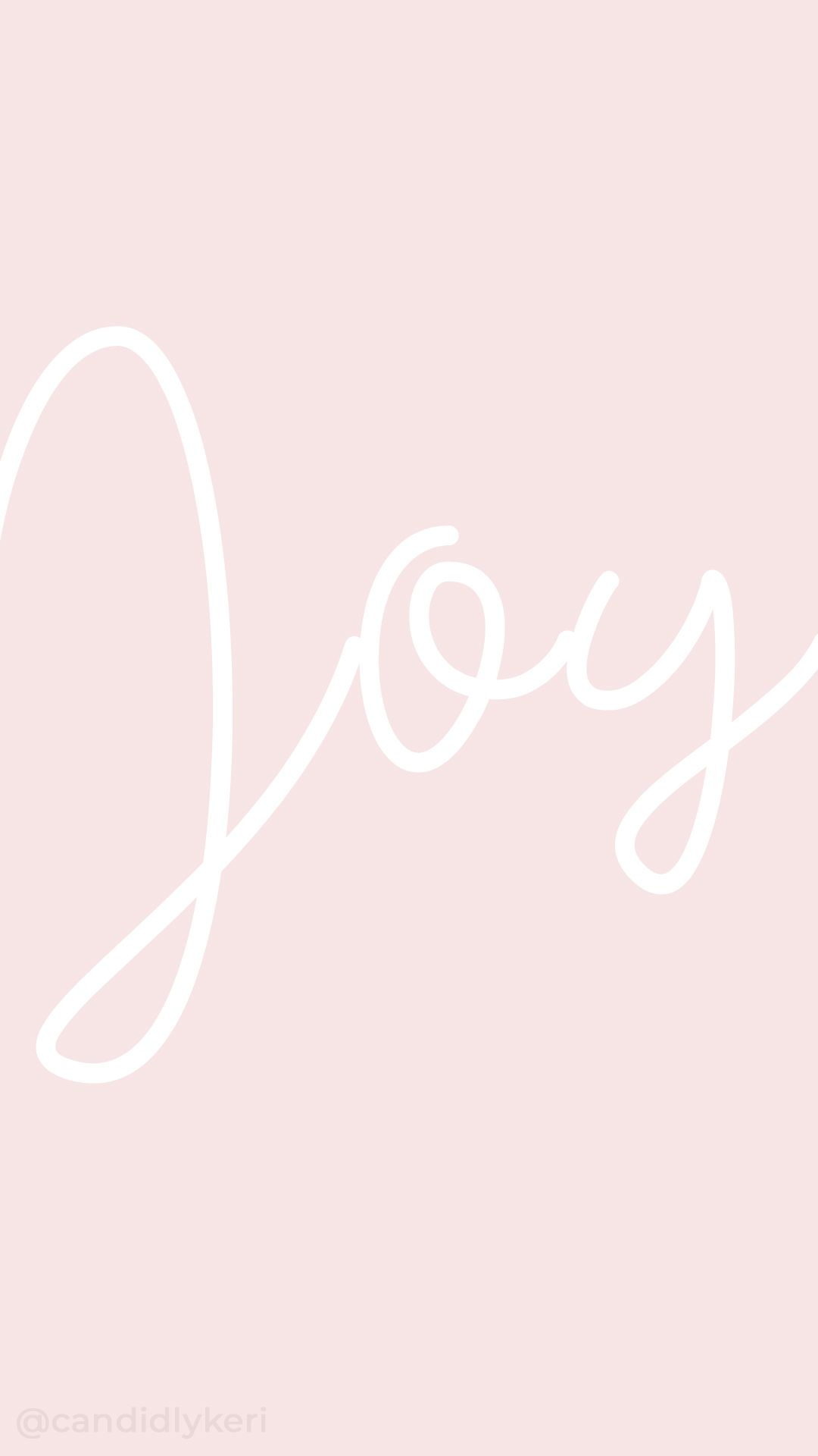 Joy Pink White Typography Inspirational Motivational Quote