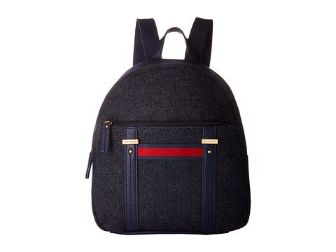 TOMMY HILFIGER Olympia Ii Backpack Denim. #tommyhilfiger #bags #leather #denim #backpacks #
