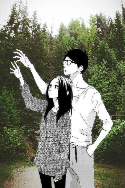 #Anime #Collage #Shoujo #Manga #Couple #Nature Manga: HNR