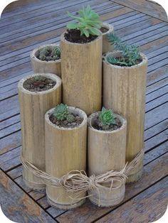 pot naturel en bambou id e d co fabriquer loisirs cr atifs d co bricolage id e. Black Bedroom Furniture Sets. Home Design Ideas