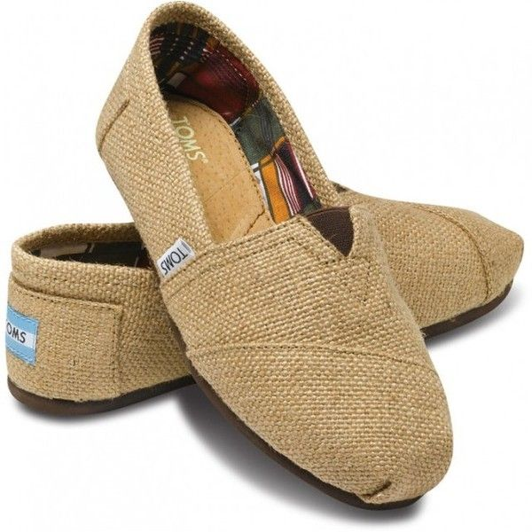 TOMS Classic Natural Burlap Women 11 ($54) ❤ liked on Polyvore